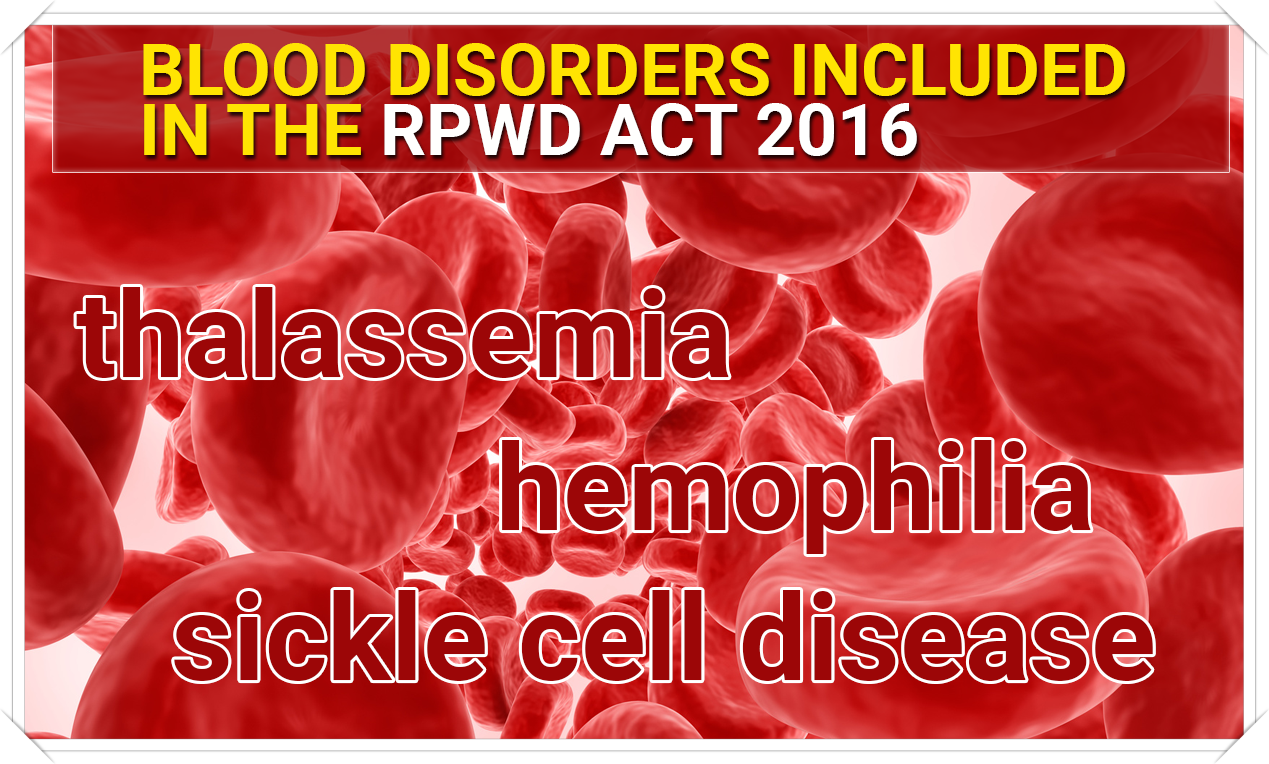 blood diseases rpwd act 2016-1