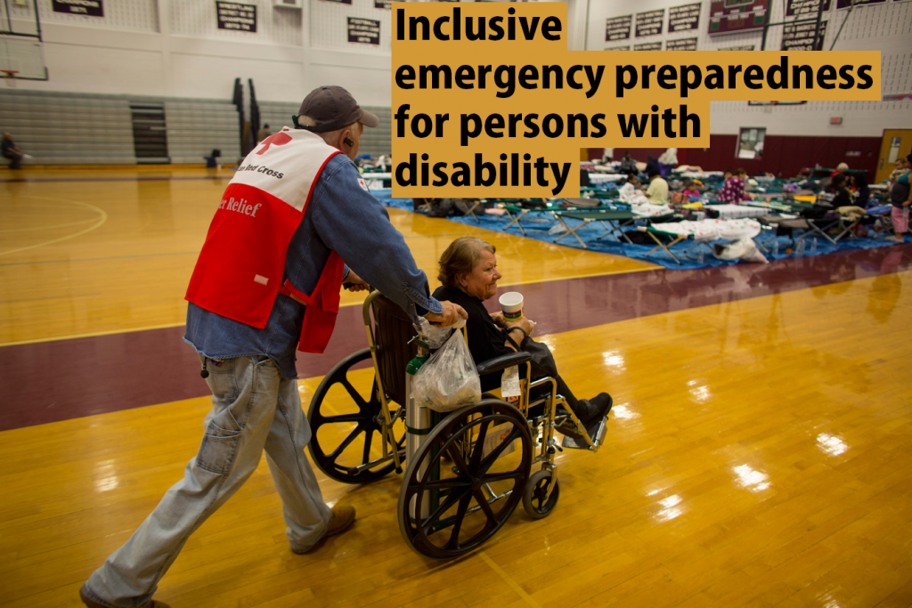 Inclusive emergency preparedness for persons with disabilities