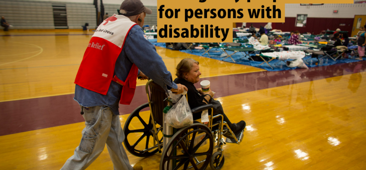 Making emergency preparedness inclusive for people with disabilities